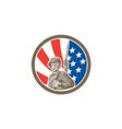 American Soldier Serviceman Bayonet Circle Retro vector image vector image