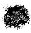 Angler fish design vector image vector image