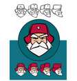 angry russian santa claus cartoon style vector image