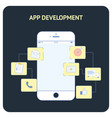 app development flat social media banner vector image
