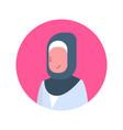 arabic woman profile avatar icon arab female vector image