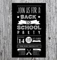 back to school party invitation design template vector image