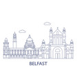 belfastthe most famous buildings of the city vector image vector image