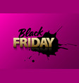 black friday text on pink background vector image vector image
