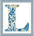 Blue letter L vector image vector image