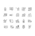 buy line icons signs set outline vector image vector image