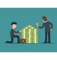 Check financial health Businessman check money vector image vector image