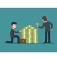 Check financial health Businessman check money vector image