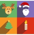 christmas and new year icons isolated set vector image vector image