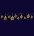 christmas balls ornaments xmas decoration vector image vector image