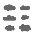 Cloud icons set gray vector image vector image