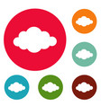 cloud in sky icons circle set vector image vector image