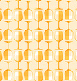 colored white wine glass seamless pattern vector image vector image