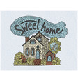 country doodle detailed cottage sweet home vector image