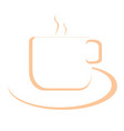 cup and dish outline vector image