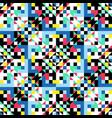 decorative colorful ornament geometric symmetric vector image vector image