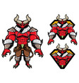demon fantasy mascot vector image vector image