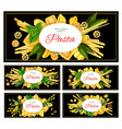 different italian pasta vector image vector image