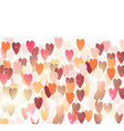 elegant background with hearts valentine s vector image