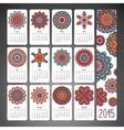 Ethnic calendar vector image