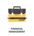 financial management icon concept vector image
