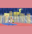 flat school children play in basketball vector image vector image