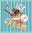 food poster with ice cream vector image vector image