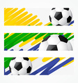 football headers set vector image vector image