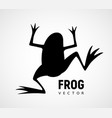 frog silhouette black and white icon vector image vector image