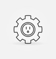 gear with american type socket concept vector image vector image