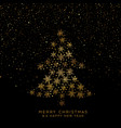 golden christmas tree snowflakes vector image vector image