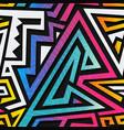 graffiti geometric seamless texture vector image vector image