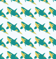 Grampus seamless pattern in bright colors vector image vector image