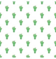 Green zombie hand pattern cartoon style vector image vector image