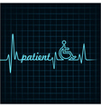 Heartbeat make patient word and symbol stock vector image vector image