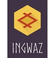 Ingwaz rune of Elder Futhark in trend flat style vector image vector image