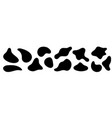 irregular amorphous liquid shapes black organic vector image