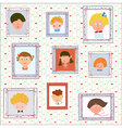 Kids portraits on the wall gallery vector image vector image