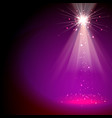 light special effect star and beams magenta color vector image vector image