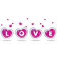 love heart vector image vector image
