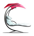 luxury floating swing hammock isolated on white vector image vector image
