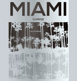 miami - concept in vintage graphic style for vector image vector image