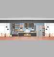 modern cafe interior empty no people restaurant vector image vector image