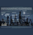 night transparent set of infographic elements vector image
