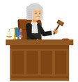 old male judge read the law book at the court vector image