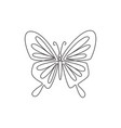 one continuous line drawing elegant butterfly vector image vector image