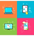 Online Technology vector image vector image