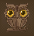owl hand drawn vector image vector image