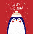 penguin in a scandinavian style vector image