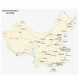 people s republic of china road map vector image vector image
